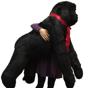 Giant Stuffed Gorilla, 42 Inch Height 36 Inch Length 36 Inch Width Huge Plush Animal, Made in USA