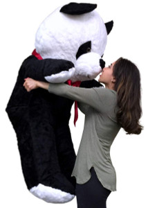 American Made Giant Stuffed Panda 54 Inches Tall Soft Stuffed Huge Panda Bear Made in the USA America