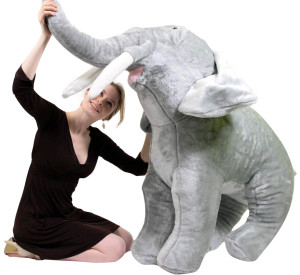 Giant Stuffed Elephant 48 Inch Soft Big Plush Animal 4 Foot Realistic Jungle Animal