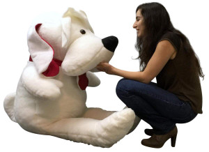 American Made 5 Foot Giant Stuffed Dog 60 inch Soft Big Plush Stuffed Animal