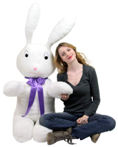 American Made 5 Foot Giant Stuffed Bunny 60 Inches Tall Big Plush Rabbit Made in the USA America