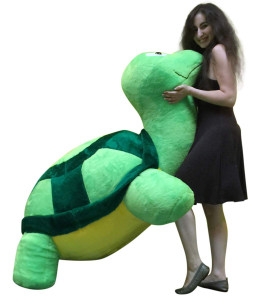 American Made Giant Stuffed Turtle 68 Inches Insanely Big Soft Plush Animal