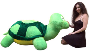 American Made Giant Stuffed Turtle 68 Inch Soft Extremely Large Plush Animal, Weighs 30 Pounds
