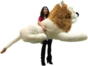 American Made Giant Stuffed Lion 6 Feet Wide Enormous Soft Plush Animal Made in  USA