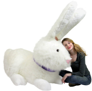 American Made Enormous Stuffed Bunny 52 Inches Almost 5 Feet Wide Soft Giant Plush Rabbit Made in the USA America