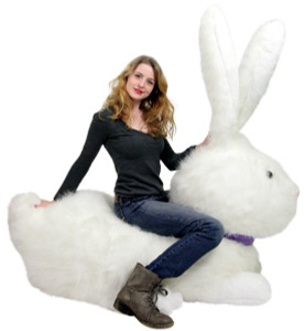 American Made Huge Stuffed Bunny 52 Inch Soft Gigantic Plush Rabbit Made in USA