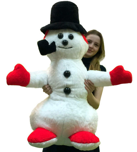 Big Plush American Made Giant Stuffed Snowman 3 Feet Tall Soft