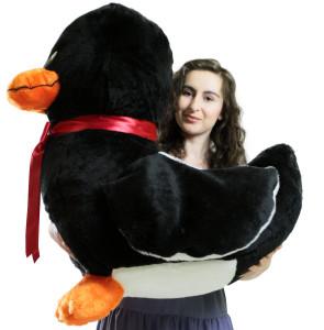 American Made Giant Stuffed Black Duck 36 Inch Soft Plush Ducky 3 Feet Big