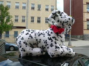 American Made Jumbo Stuffed Dalmatian 33 Inch Soft Big Plush Fire Dog