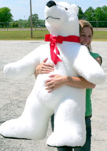 Giant Stuffed Polar Bear 42 Inches Made in USA