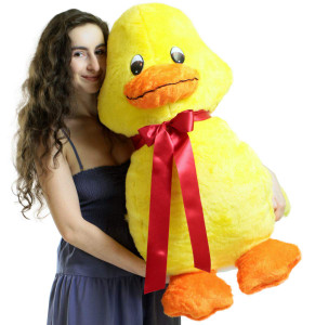 American Made Giant Stuffed Yellow Duck 36 Inches Soft 3 Foot Plush Animal