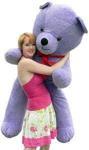 6 foot American Made Giant Purple Teddy Bear Huge Stuffed Big Plush Bear Made in the USA