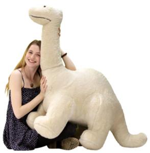 American Made Big Plush Dinosaur Giant Stuffed Brontosaurus 4 Feet Long 3 Feet Tall Made in USA