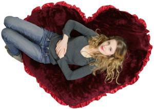 American Made Super Sized Giant 4 foot Heart Pillow Huge Stuffed Valentine Heart