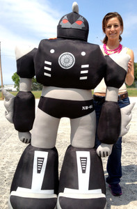 Giant Stuffed Robot 5 Feet Tall Enormous Soft Black Robo Plush 60 Inches