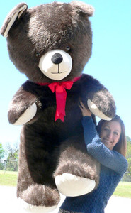 Giant Teddy Bear 54 inch Soft Brown Made in USA