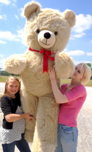 American Made Giant 6 Foot Teddy Bear Beige Color Soft Jumbo Plush Bear Made in USA