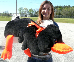 Giant Stuffed Black Duck 38 Inch Huge Soft Plush Ducky Made in USA
