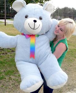 4 Foot Teddy Bear Soft Blue 48 Inch Giant Teddybear, Made in USA America