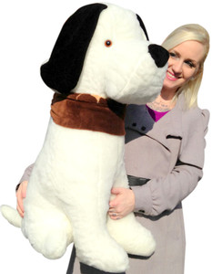 Giant Stuffed Puppy Dog 3-feet tall - Sits on its own without Needing Assistance - Made in the USA America