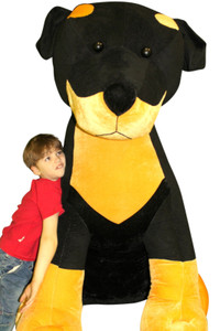 Giant Stuffed Rottweiler Huge 5 Feet Tall Soft 60 Inch Big Plush Dog