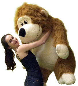 Huge Stuffed Monkey Size 51 Inch Waist Big Plush Gorilla 4 Feet Tall 3 Feet Wide Brown Color
