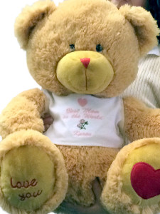 Best Mom in the World Brown Teddy Bear 22 Inches with Name of Mother Personalized Custom Embroidered on T-shirt