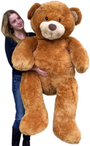 Giant  5 Foot Teddy Bear Big Soft 60 Inch Plush Animal Honey Brown Color