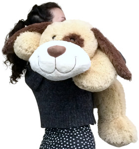 Large Stuffed Puppy Dog 36 Inches Long Big Plush Soft Adorable Premium Quality Stuffed Animal