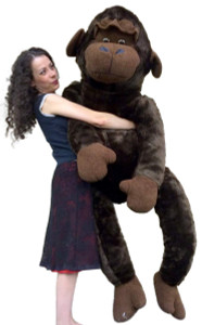 American Made 6 Foot Giant Stuffed Monkey 72 Inch Huge Soft Stuffed Gorilla Made in USA America