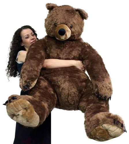 Giant Brown Teddy Bear Luxurious Soft Plush Animal Huge 3 Feet Tall