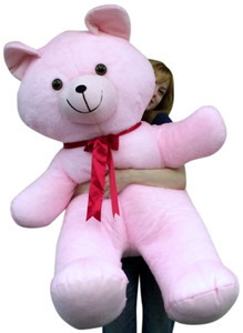 American Made 4 Foot Giant Pink Teddy Bear Soft 48 Inch Large Stuffed Animal