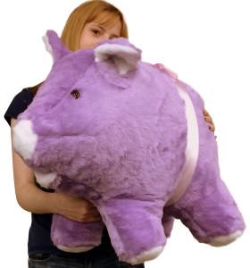 American Made Giant Stuffed Purple Pig 27 Inch Soft Big Stuffed Animal Made in USA