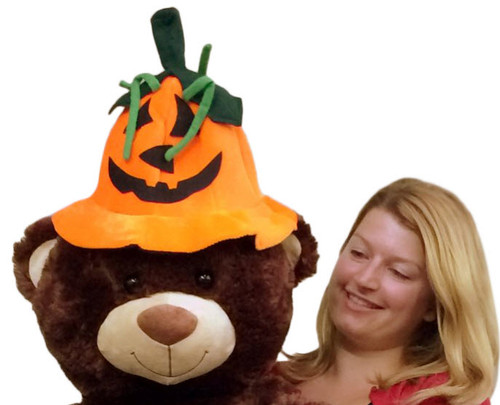 Add this fun Halloween Pumpkin Hat to any Big Plush stuffed animal