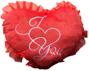 ADD an I  ♥  You HEART PILLOW - WE WILL ATTACH IT TO YOUR STUFFED ANIMAL