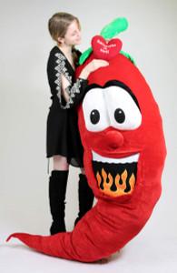 Custom Personalized Giant Stuffed Hot Chili Pepper 6 Feet Tall , Custom Imprinted (Fill in Name) is Hot