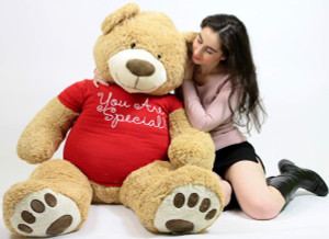 You Are Special Giant Teddy Bear Five Feet Tall Soft T-Shirt Says YOU ARE SPECIAL