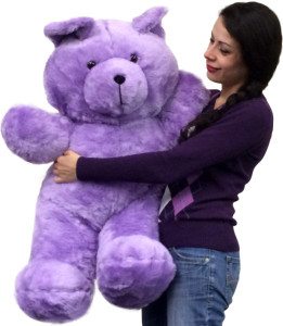 American Made Purple Giant Teddy Bear 36 Inches Made in the USA America