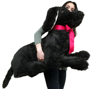 American Made 3 Foot Giant Stuffed Dog Soft Black 36 Inch Big Stuffed Animal