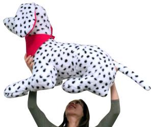 American Made Giant Stuffed Dalmatian Dog 36 Inches Three Feet Wide Big Stuffed Animal
