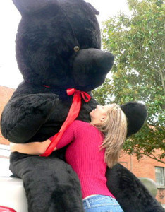 American Made Giant Black Teddy Bear 96 Inch Soft 8 Foot Stuffed Bear Made in USA