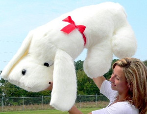 American Made Giant Stuffed Dog 48 Inches Big Plush White Puppy