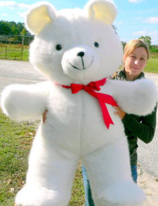 American Made Giant 4 Foot Teddy Bear Soft White 48 Inch Teddybear