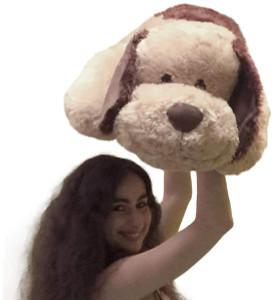 Large Stuffed Puppy Dog 36 Inches Big Plush Soft Brown Stuffed Animal