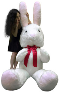 Big Plush 7 Foot Giant Stuffed Bunny 84 Inch Soft White American Made Stuffed Rabbit