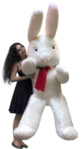 American Made 7 Foot Giant Stuffed Bunny 84 Inches Tall Big Plush Rabbit Made in USA