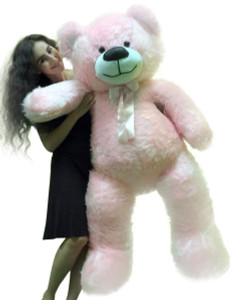 5 Foot American Made Giant Pink Teddy Bear 62 Inches Soft Made in USA