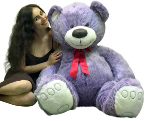 Big Plush 5 Foot Giant Purple Teddy Bear Soft 60 Inch Large Stuffed Animal
