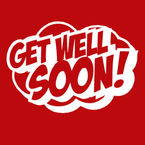 ADD this T-Shirt Design GET WELL SOON and We'll Dress-Up your Stuffed Animal in this T-Shirt