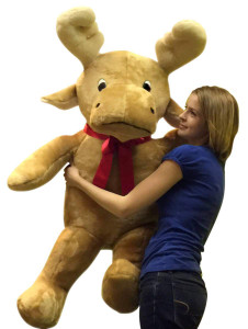 American Made Big Plush Moose Soft Adorable Premium Quality Giant Stuffed Reindeer 50 Inches